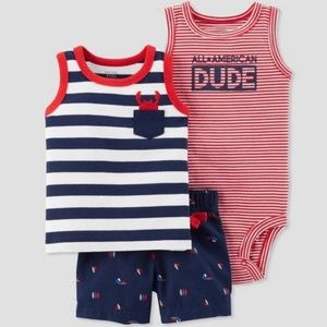 3/$25 Carter's 'All American Dude' Outfit Set